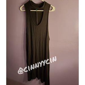 Sleeveless Black Plus Dress
